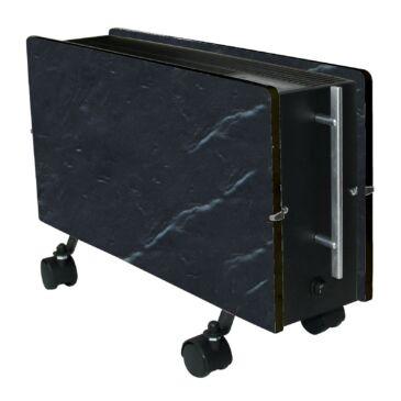 Climastar Optimus Fekete Pala hordozható kerámia elektromos fűtőpanel 1600W