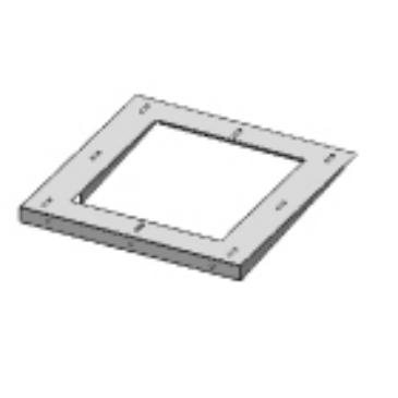 Aereco PC1 004 4° lejtésű adapter AVT típusú hangcsillapító talpazat alá