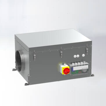 Aereco VCZ 1207 Fordulatszám szabályozott központi ventilátor, Kültéri kivitel