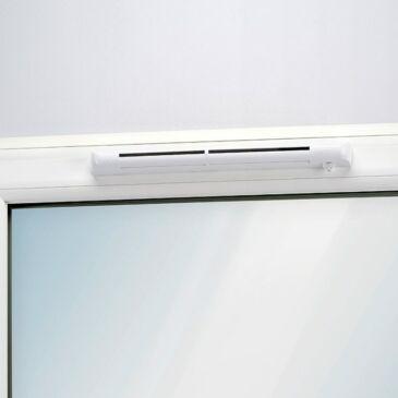 Aereco EHM 1275S önszabályozó, nyílászáróba építhető légbevezető szürke