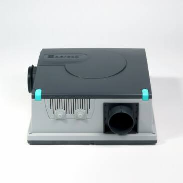 Aereco V2A Hangcsillapított, fordulatszám szabályozott ventilátor 2 helyiség elszívásához