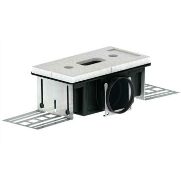 ComfoTube CLD-P 75 Levegőnyílás ház, 85 mm, hosszú oldalon csatlakozó