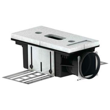 ComfoTube CLD-P 90 Levegőnyílás ház, 115 mm, rövid oldalon csatlakozó